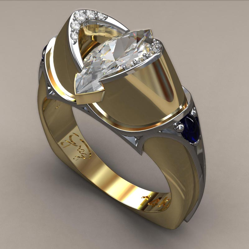 3 wishes medieval silver wedding ring - Medieval Wedding Rings